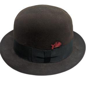 Churchill Vintage Fedora Brown Felt Hat